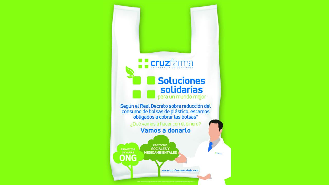 81bc26b5d La iniciativa 'Soluciones solidarias para un mundo mejor' anima a las  farmacias a donar el importe de las bolsas de plástico bio a proyectos  sociales y ...