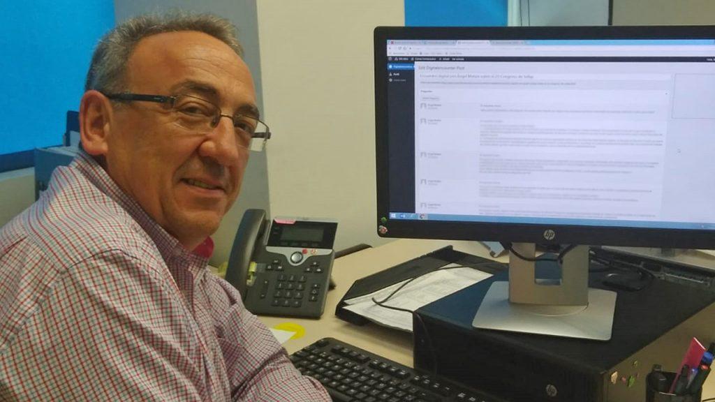 Ángel Mataix, presidente de Sefap, durante el encuentro digital en la página web de CF.