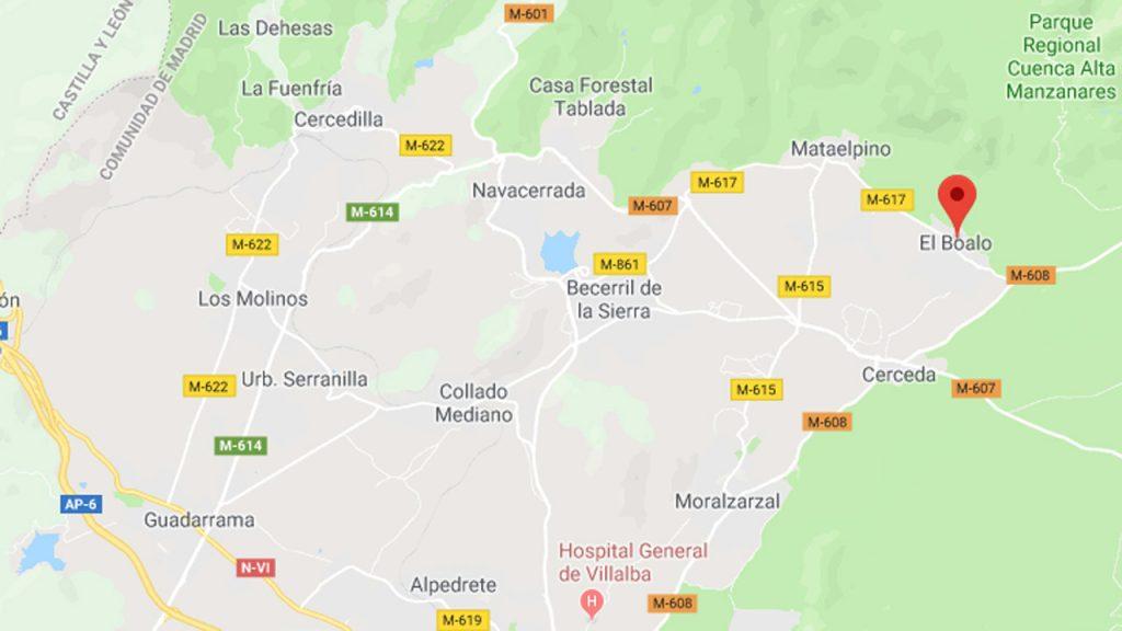 Ubicación geográfica de El Boalo.
