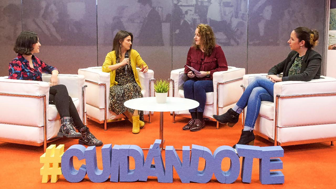 María de Elena Amor, de 'Lasexología.com'; Silvia Pérez, de la Fundación Sexpol; Mar Sevilla, de 'CuídatePlus', y Diana Lozano, de Centro TAP.
