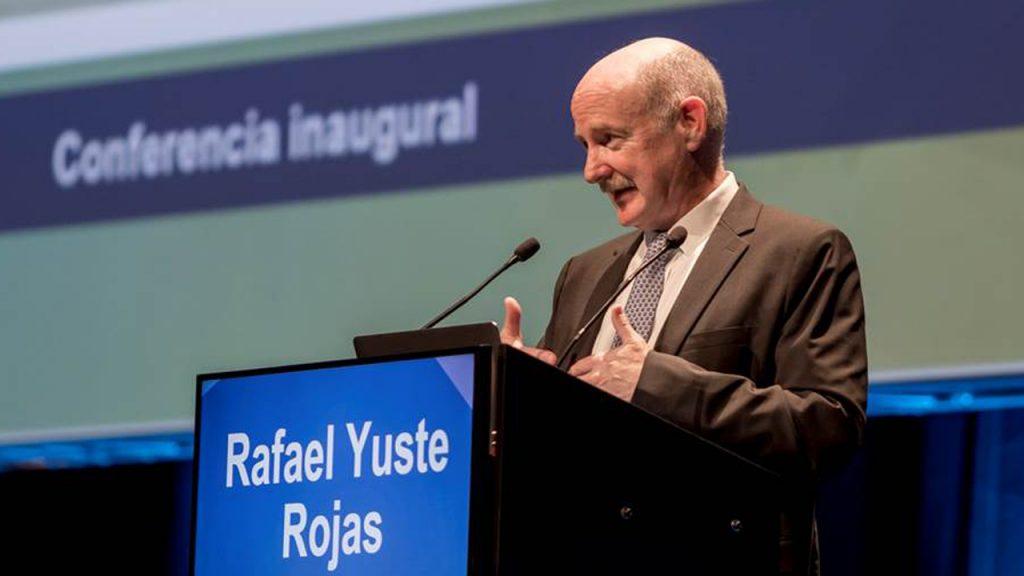 Rafael Yuste, durante su intervención en el Congreso de la SEFH.