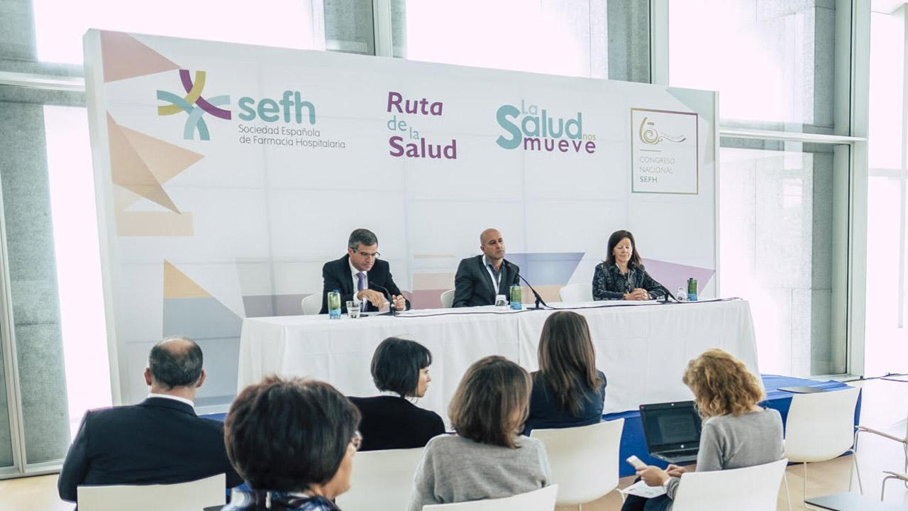 Miguel Ángel Calleja, Pere Ventayol y Olga Delgado durante la presentación.