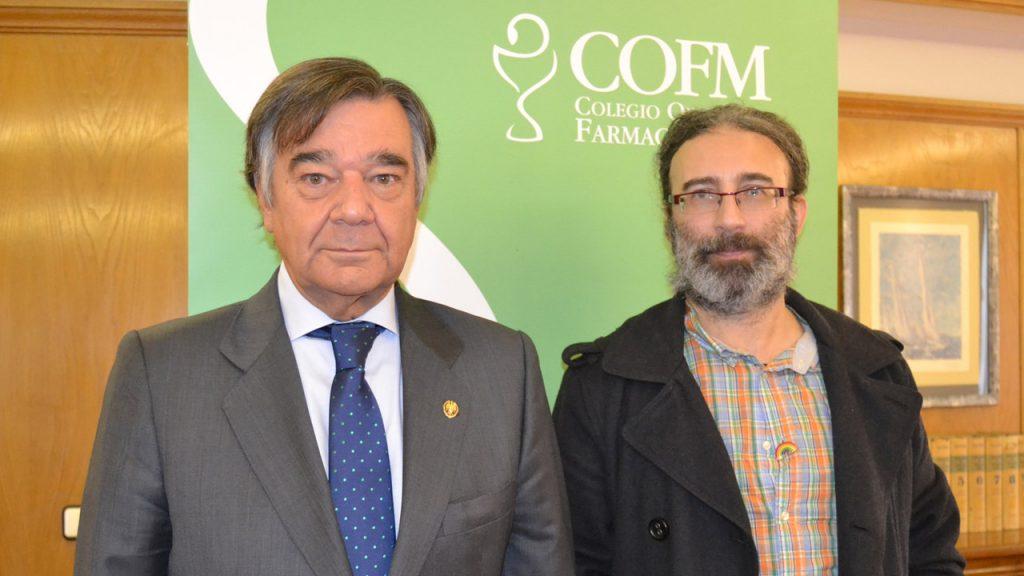 Luis González Díez, presidente del COF de Madrid, y Francisco Ramírez Martín, presidente de de Colegas-Confederación LGBT Española.