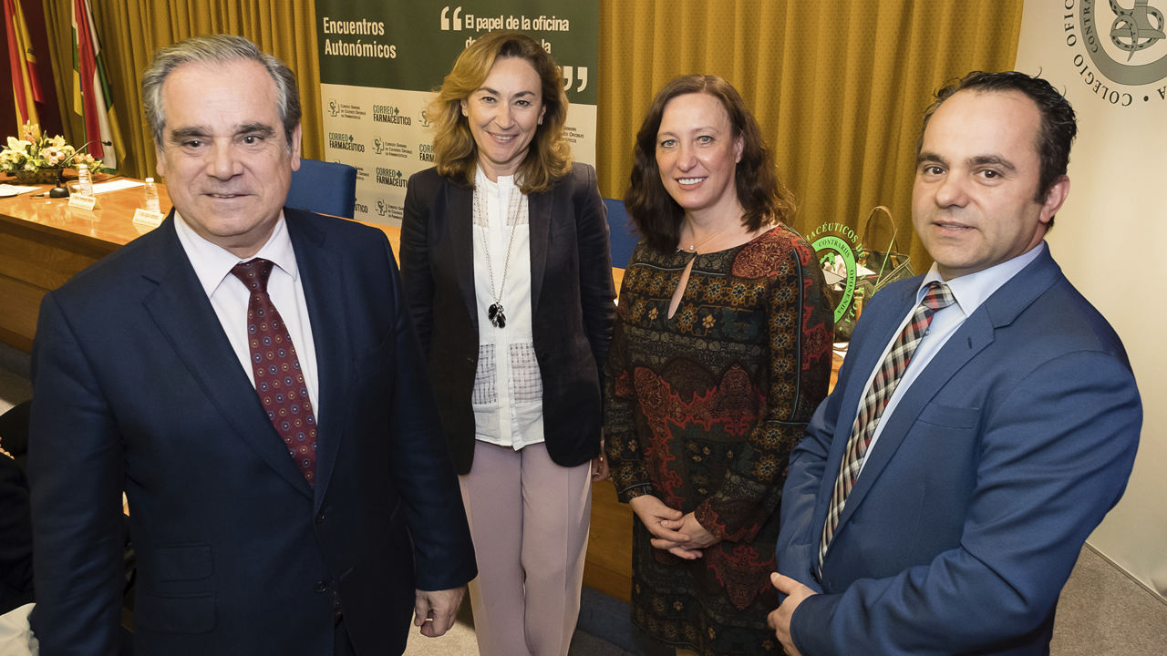 Jesús Aguilar, María Martín Díez de Baldeón, Carmen Fernández y Mario Domínguez en el encuentro autonómico.