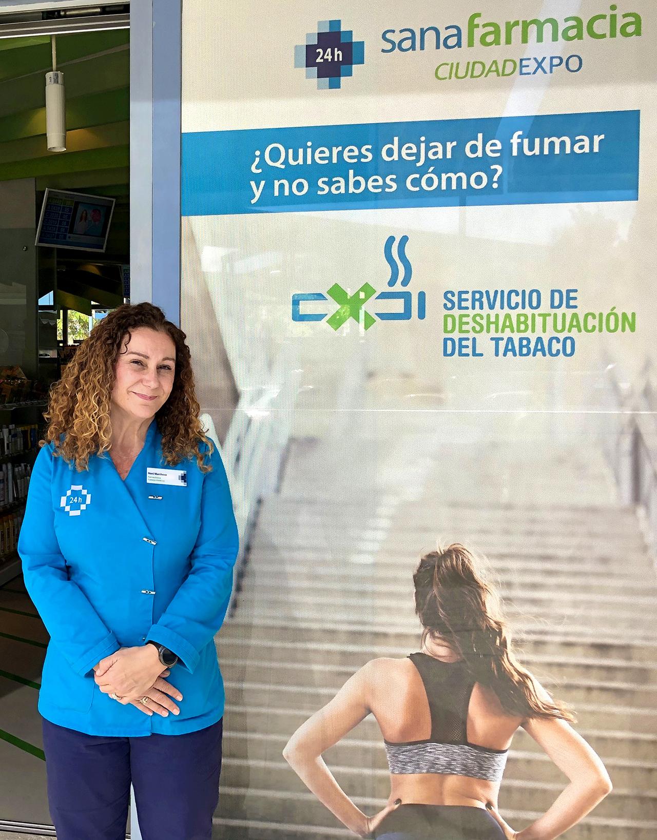 Nani Marchena, farmacéutica adjunta y encargada del servicio de cesación tabáquica en Sanafarmacia (Sevilla).