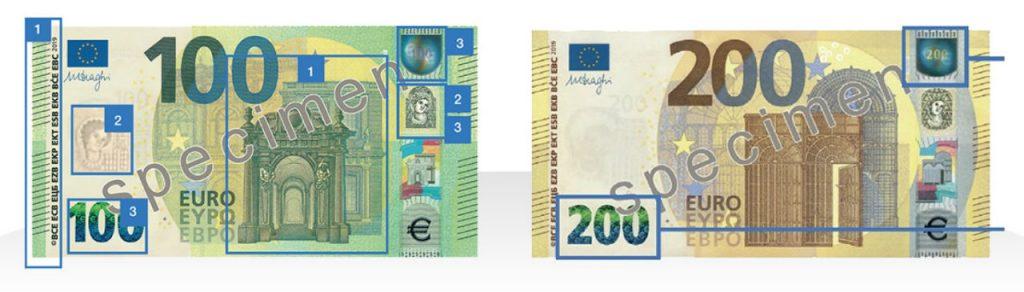 Nuevo billetes de 100 y 200 euros
