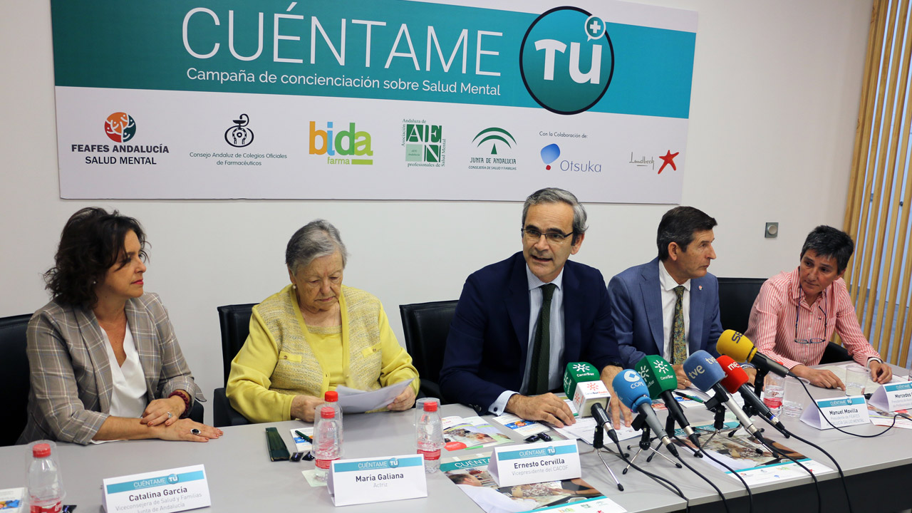 Catalina García, María Galiana, Ernesto Cervilla, Manuel Movilla y Mercedes Castro han participado en la presentación de la campaña.