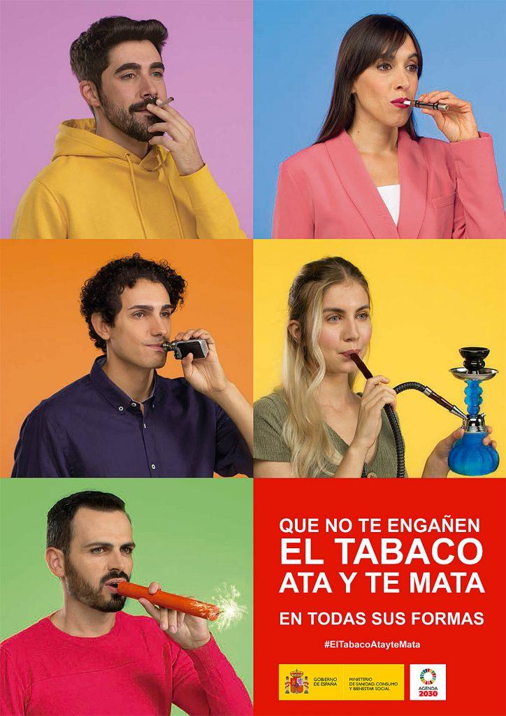 Cartel de la campaña contra el tabaco del Ministerio de Sanidad.