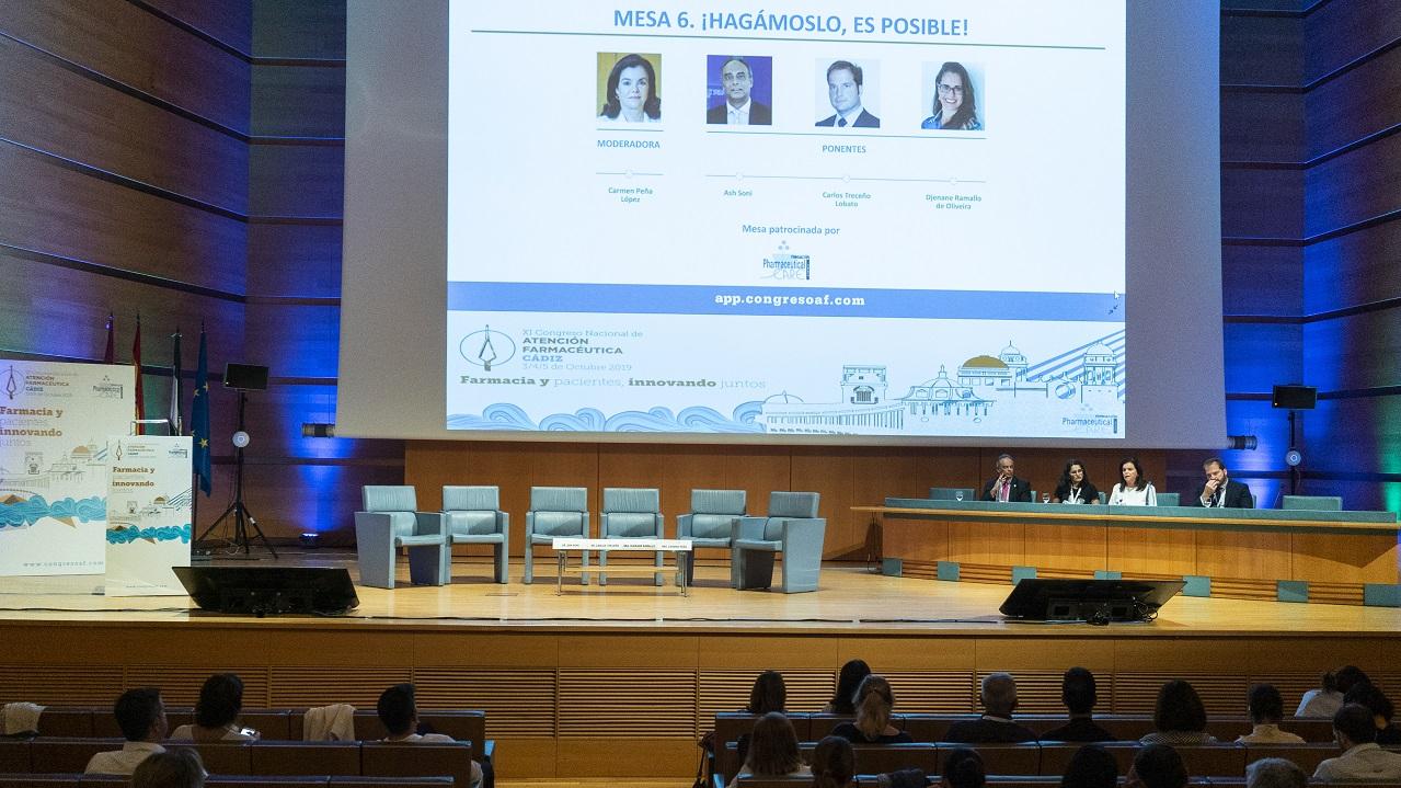 Ash Soni, Djenane Ramallo de Oliveira, Carmen Peña y Carlos Treceño, durante la mesa de debate.
