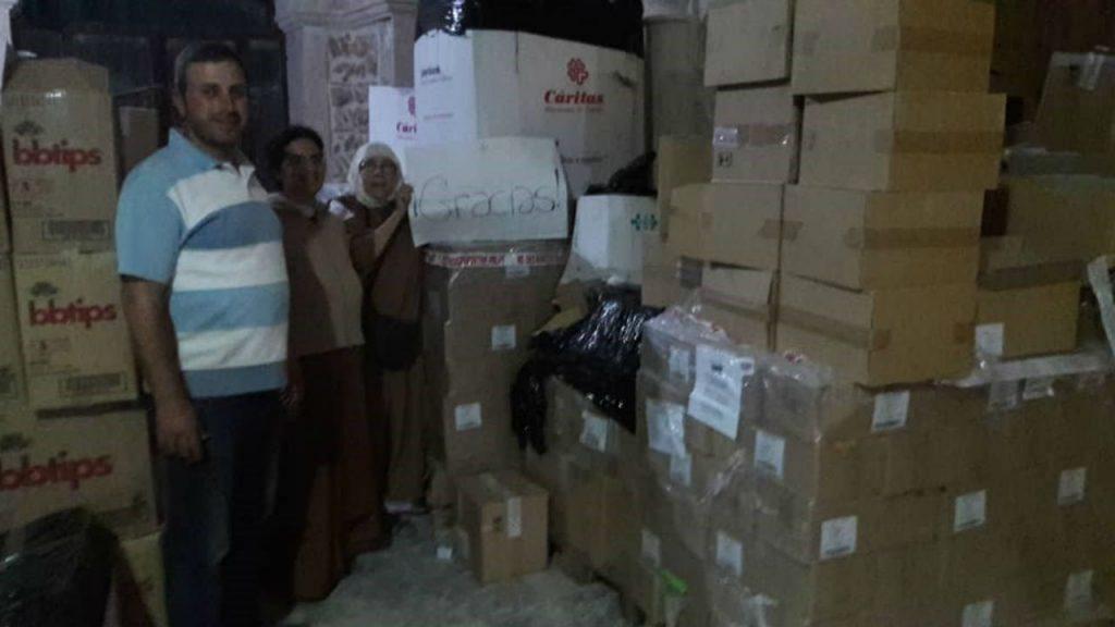 Donación Cáritas Siria